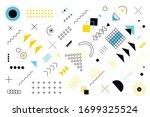 geometric memphis design ... | Shutterstock .eps vector #1699325524
