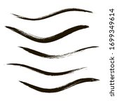 makeup strokes  set of mascara... | Shutterstock .eps vector #1699349614
