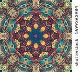 seamless tracery tile mehndi... | Shutterstock .eps vector #1699363984