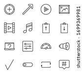 sign icon set. collection of... | Shutterstock .eps vector #1699369981