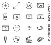 sign icon set. collection of... | Shutterstock .eps vector #1699369984