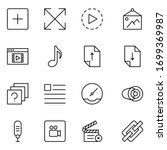 sign icon set. collection of... | Shutterstock .eps vector #1699369987