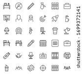 office line icon set.... | Shutterstock .eps vector #1699372141