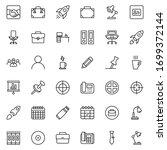 office line icon set.... | Shutterstock .eps vector #1699372144