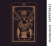 vector hand drawn tarot card... | Shutterstock .eps vector #1699376611