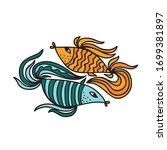 beautiful decorative element.... | Shutterstock .eps vector #1699381897