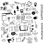 visual media vector doodle | Shutterstock .eps vector #169940165