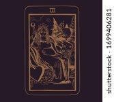 vector hand drawn tarot card... | Shutterstock .eps vector #1699406281