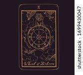 vector hand drawn tarot card...   Shutterstock .eps vector #1699430047