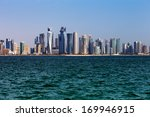 Stock photo doha qatar nov the west bay city skyline as viewed from the grand mosque on nov in 169946915