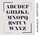 elegant alphabet letters serif...   Shutterstock .eps vector #1699473967