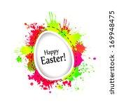 easter eggs. happy easter  ... | Shutterstock . vector #169948475