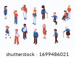 different isometric people... | Shutterstock .eps vector #1699486021