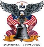 liberty bell in philadelphia ... | Shutterstock .eps vector #1699529407