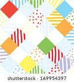 plaid funny seamless patchwork... | Shutterstock .eps vector #169954397