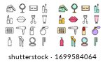 line icons set of beauty and... | Shutterstock .eps vector #1699584064
