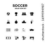 soccer solid icons. vector... | Shutterstock .eps vector #1699594987