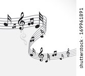 music theme   abstract music... | Shutterstock .eps vector #169961891