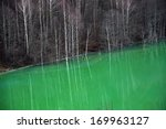 contaminated lake water.... | Shutterstock . vector #169963127