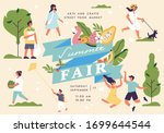 vector summer fair poster ... | Shutterstock .eps vector #1699644544