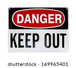 Danger Sign  Isolated