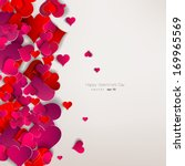 hearts on abstract love... | Shutterstock .eps vector #169965569