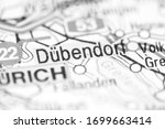 Dubendorf on a geographical map of Switzerland
