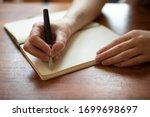 Beautiful Female Hands Writing...