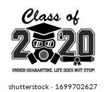 2020 quarantine graduation... | Shutterstock .eps vector #1699702627