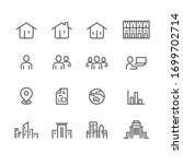office and people icons set... | Shutterstock .eps vector #1699702714