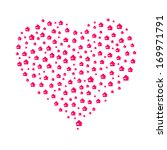 the heart composition made out... | Shutterstock .eps vector #169971791