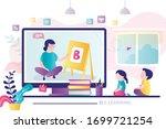 e learning banner. online early ...   Shutterstock .eps vector #1699721254
