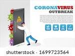 vector of doctor stopping... | Shutterstock .eps vector #1699723564