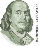 vector portrait of benjamin... | Shutterstock .eps vector #1699724647