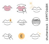 lip treatment and care vector...   Shutterstock .eps vector #1699726684
