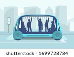 driverless car technology... | Shutterstock .eps vector #1699728784