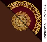 luxury background with mandala. ... | Shutterstock .eps vector #1699750657