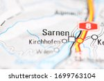 Sarnen on a geographical map of Switzerland