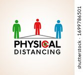 physical distancing. social... | Shutterstock .eps vector #1699786501