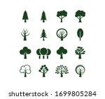 Flat Vector Trees Set. Tree...