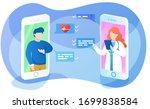 online doctor app interface ... | Shutterstock .eps vector #1699838584