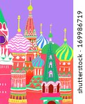 several colorful spires with a... | Shutterstock . vector #169986719