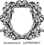 a coat of arms crest scroll and ... | Shutterstock .eps vector #1699893847
