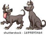 cartoon mexican xolo hairless... | Shutterstock .eps vector #1699895464