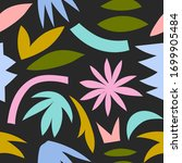 seamless pattern with jungle... | Shutterstock .eps vector #1699905484