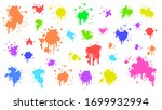 color spray different set paint ... | Shutterstock .eps vector #1699932994