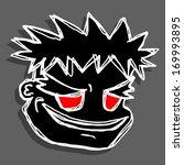 red eyes mask | Shutterstock .eps vector #169993895