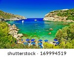 turquoise beaches of rhodes... | Shutterstock . vector #169994519