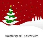 a winter background...   Shutterstock . vector #16999789