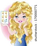 hair beauty card  | Shutterstock .eps vector #170000771
